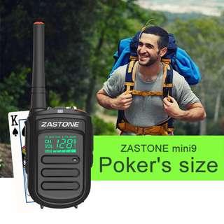 🚚 New model, export only! ZASTONE MINI9 1500mah 3w portable mini two-way radio walkie talkie