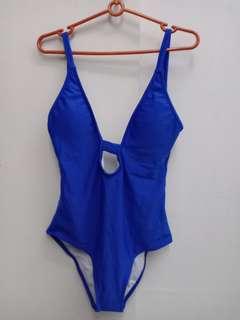 Blue monokini swimwear