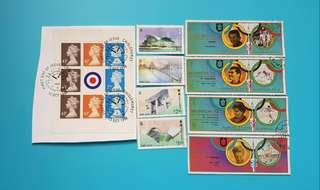 (包平郵)已蓋銷女皇頭郵票+8張沒蓋銷郵票