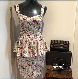 PAPRIKA Peplum Midi Cotton Dress