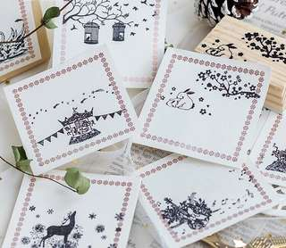 (PO) Shimmers and Stars Wooden Stamps