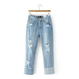 44315 - Blue Ragged Denim