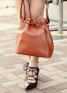 Authentic Vintage Louis Vuitton Epi Leather Petit Noe Brown