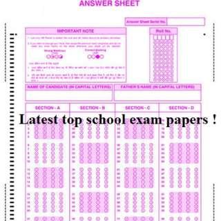 Latest Top Primary Schools' Exam Papers !