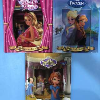 Disney Princess books- Frozen, Sophia & Barbie in the pink shoes series