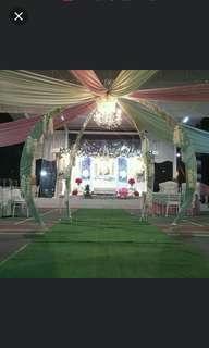 Wedding pelamin sets & decor garage sale