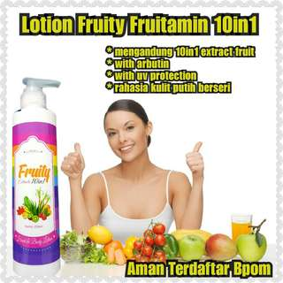 [BPOM] LOTION FRUITY 10 in 1 / FRUITAMIN LOTION 10IN1 ORIGINAL