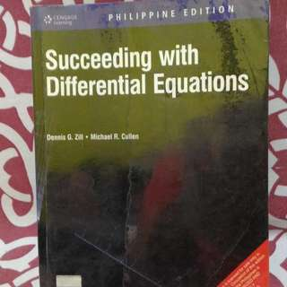 📚Succeeding with Differential Equations by Zill