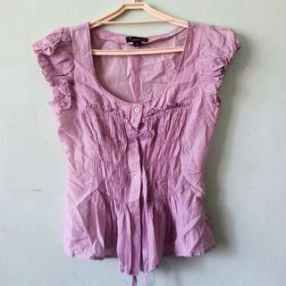 Forever 21 Lilac Blouse