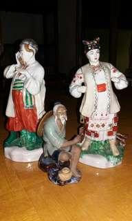 3 patung keramik