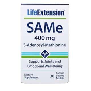 Life Extension, SAMe (S-Adenosyl-L-Methionine), 400 mg, 30 Enteric Coated Tablets