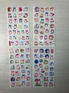 Headscarf Bunny Stickers