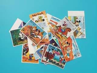 (包平郵)迪士尼米奇郵票18張