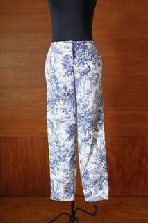 White Pants with Pattern
