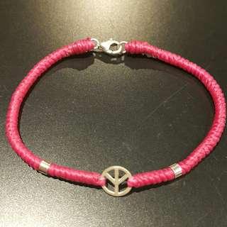 🚚 Peace銀飾蠟線手鏈