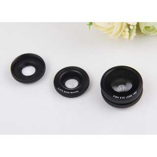 3 in 1 lens (wide angle + fisheye + triple macro lens) with clip (PRE ORDER)