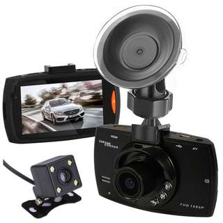 792. C-POW Dual Cameras Car DVR G30 Dash Cam Full HD 1080P Video Recorder Registrator With Backup Rear View Camera Night Vision Dvrs