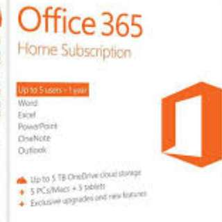 Super Sale: Microsoft Office 365  with 60 min Skype and 1TB onedrive