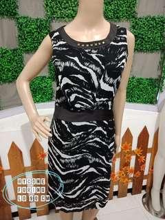 Dresa hitam zebra hycone
