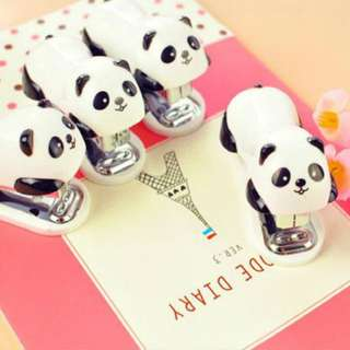Cute Mini Panda Animal Stapler Set Cartoon Office School Supplies Stationery Paper Clip Binding Binder Book Sewer