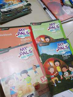 MY PALS are here English workbook 3A /3B / Pupils book 4A / workbook 4A