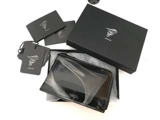 Yohji Yamamoto Discord - limited edition black patent leather round zipper wallet