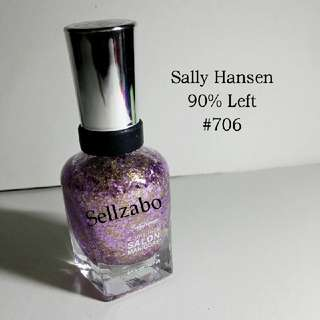 9/10 Sally Hansen Purple Colour Complete Salon Nails Polish Finger Fingernails Toes Manicure Pedicure Care Sellzabo #706