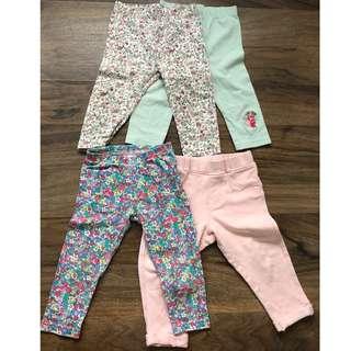 Baby girl leggings / tights / jegging x 4