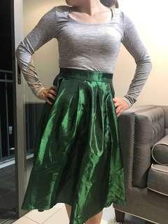 Circular Green Skirt