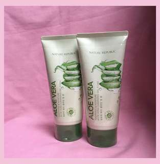 Nature Republic Aloevera Cleansing Gel Foam