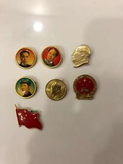 Chairman Mao badges and pins