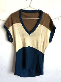 Knit V top