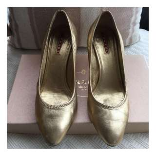 Prada   leather shoes  @ Made in Italy  Size 37-1/2 @
