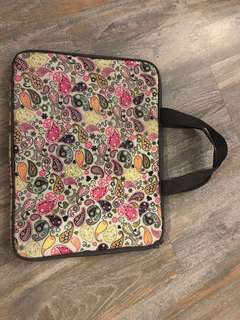 Computer notebook padded case/ bag with handle