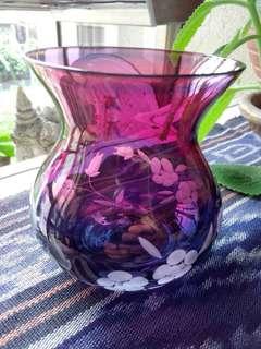 Beautiful hand-cut Crystal vase