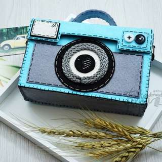Handmade Bags~Vintage Camera Felt Bags, Shoulder, Crossbody, Handle, Cosmetic Handbags/Pouches, Coin Purses/Totes/Wallets/Storages~Retro Style #RSB013