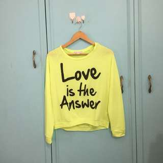 Forever 21 neon sweater