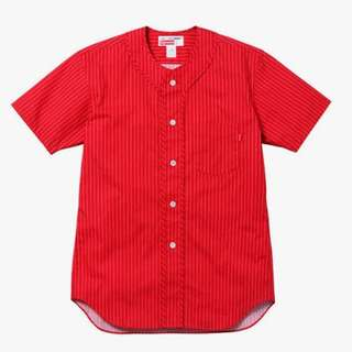 CDG Shirt x Supreme Baseball Shirt (Red) comme des garcons LV
