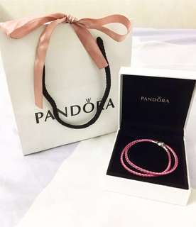 New Pandora Moments Double Leather Bracelet