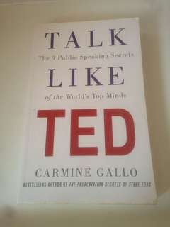 Preloved books: Talk like TED