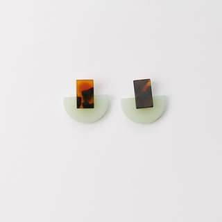 🚚 🎀現貨🎀半月大理石耳環