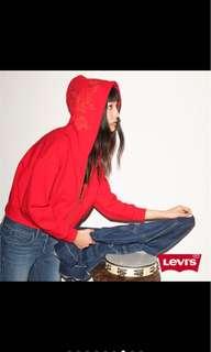 🚚 (全新含運)LEVIS紅色花卉外套