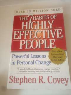 Preloved books: the 7 habits of highly effective people