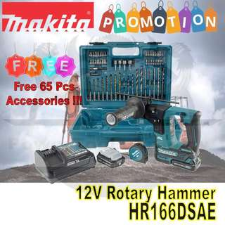 [NEW] MAKITA 12V HR166DSAE CORDLESS ROTARY HAMMER DRILL