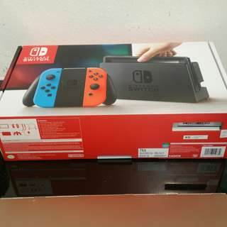 Nintendo Switch Console (1 year local warranty with free gifts)
