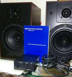 英國制 KEF Reference 102 書架揚聲器 連KUBE 102 平衡器-