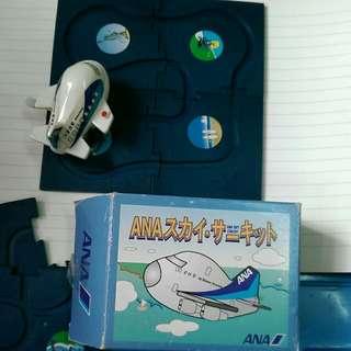 全日空 旅遊 模型飛機 盒小殘HK50元