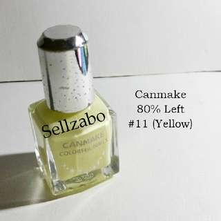8/10 Canmake Yellow Colour Nails Polish Finger Fingernails Toes Manicure Pedicure Care Sellzabo #11