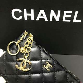 Chanel Vip Gift Pouch Lambskin