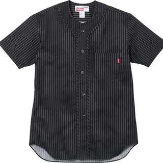 CDG Shirt x Supreme Baseball Shirt (Black) comme des garcons LV